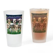 8x10-7 SHIH TZUS-Moonlight Garden Drinking Glass