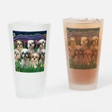 8x10-7 SHIH TZUS-Moonlight Garden Drinking Glass
