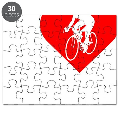 I-Heart-Cycling2-darks Puzzle