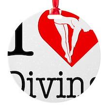 I-Heart-Diving Ornament