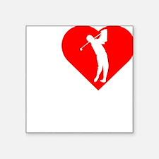 "I-Heart-Golf-darks Square Sticker 3"" x 3"""