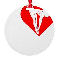 I-Heart-Diving-Darks Ornament