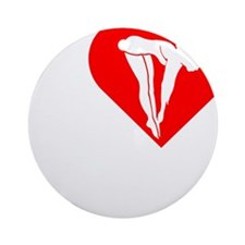 I-Heart-Diving-Darks Round Ornament
