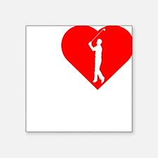 "I-Heart-Golf-2-darks Square Sticker 3"" x 3"""