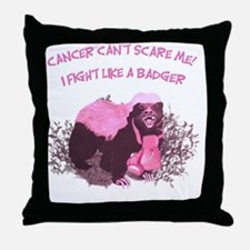 Fight Like A Badger I Throw Pillow
