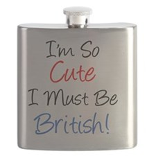So Cute Must Be British Flask