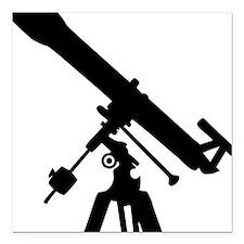 """telescope Square Car Magnet 3"""" x 3"""""""