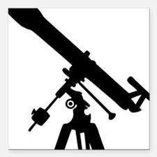 "telescope Square Car Magnet 3"" x 3"""
