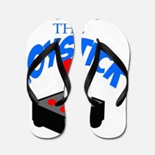 RESPECT THE JOYSTICK BLUE Flip Flops