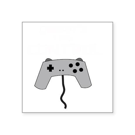 """GAMERS TAKE CONTROL white Square Sticker 3"""" x 3"""""""