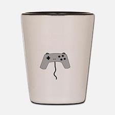 GAMERS TAKE CONTROL white Shot Glass