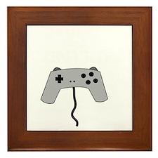 GAMERS TAKE CONTROL white Framed Tile