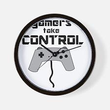 GAMERS TAKE CONTROL Wall Clock