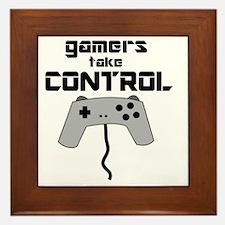 GAMERS TAKE CONTROL Framed Tile