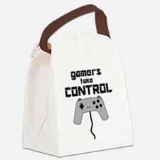 GAMERS TAKE CONTROL Canvas Lunch Bag
