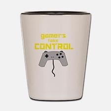 GAMERS TAKE CONTROL yellow Shot Glass