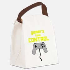 GAMERS TAKE CONTROL yellow Canvas Lunch Bag