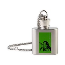 grrr-GREEN+TXT Flask Necklace