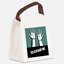 hands-work-CRD Canvas Lunch Bag
