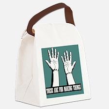 hands-work-TIL Canvas Lunch Bag