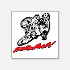 "DirtbikeBrraaap Square Sticker 3"" x 3"""