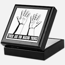 hands-work-T Keepsake Box