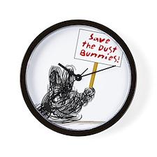 Dust Bunnies Dark Wall Clock