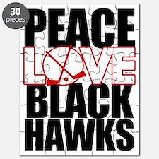 peaceloveblackhawks copy Puzzle