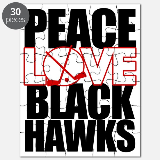 peaceloveblackhawks copy Puzzle