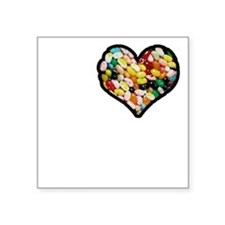 "I Love Jelly Beans Square Sticker 3"" x 3"""