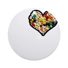 I Love Jelly Beans Round Ornament