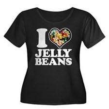 I Love J Women's Plus Size Dark Scoop Neck T-Shirt