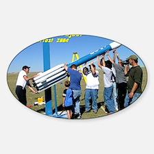 Delta2-lift-shirt Sticker (Oval)