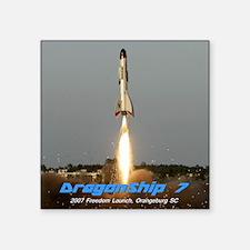 "DragonShipShirt-2 Square Sticker 3"" x 3"""