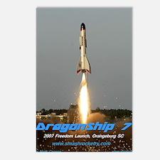 DragonShipShirt-2 Postcards (Package of 8)