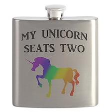 MY UNICORN SEATS TWO BLACK Flask