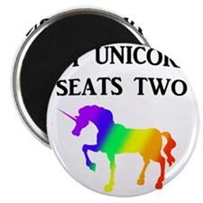 MY UNICORN SEATS TWO BLACK Magnet