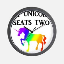 MY UNICORN SEATS TWO BLACK Wall Clock