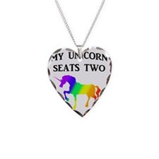 MY UNICORN SEATS TWO BLACK Necklace