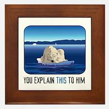 Arctic Polar Bear Framed Tile