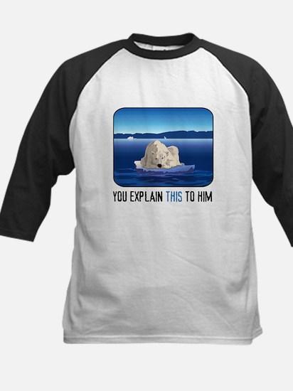 Arctic Polar Bear Kids Baseball Jersey