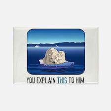 Arctic Polar Bear Rectangle Magnet