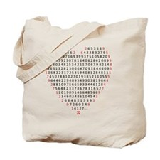 pi love Tote Bag