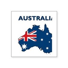 "australia26 Square Sticker 3"" x 3"""