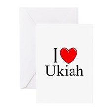 """I Love Ukiah"" Greeting Cards (Pk of 10)"
