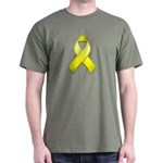 Yellow Awareness Ribbon Dark T-Shirt