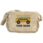 Personalized School Principal Messenger Bag