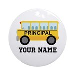 Personalized School Principal Ornament (Round)