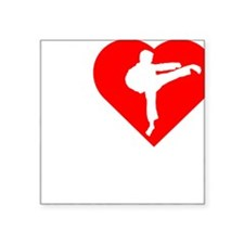 "I-Heart-Karate-Darks Square Sticker 3"" x 3"""