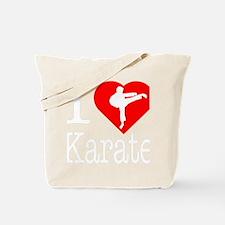 I-Heart-Karate-Darks Tote Bag